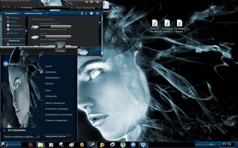Девушки  Оформление ОС Windows 7 8 и 10